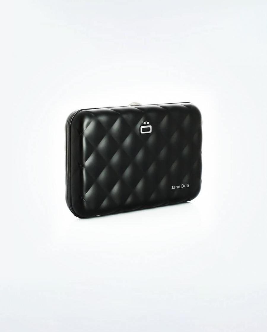 ÖgonDesign Quilted Button RFID安全防盜菱格紋卡匣